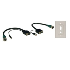 Easy Pull Type-A Connectors - (M/F set of VGA with Audio and Faceplate)