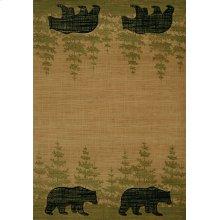 Contours/cem Wooded Bear Beige Rugs