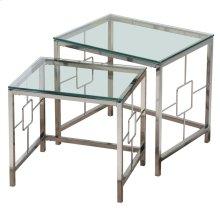 Athena 2Pc Nesting Tables in Chrome
