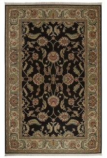 Agra Black Rectangle 5ft 9in x 9ft