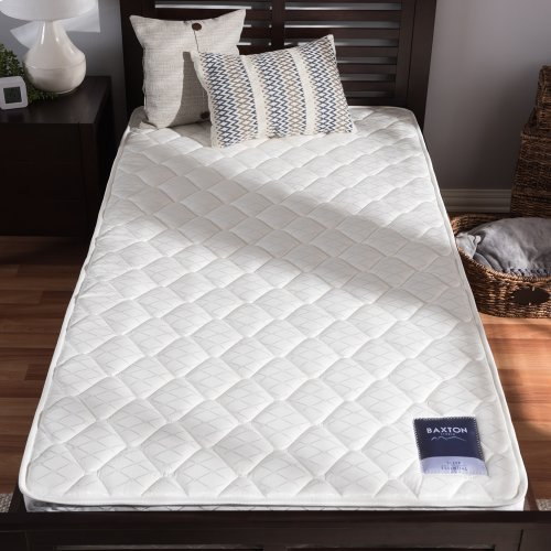 Baxton Studio Alaura Twin Size Spring Mattress