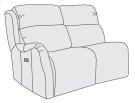 Derek Left Arm Power Motion Loveseat Product Image