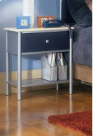 Brayden Nightstand Silver and Navy Product Image