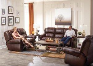Power Headrest w/Lumbar Reclining Sofa