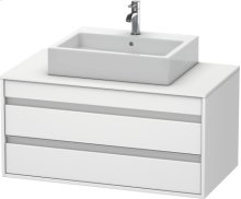 Vanity Unit Wall-mounted, White Matt