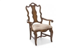 Continental Splat Back Arm Chair - Weathered Nutmeg