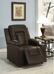 Brown Pu Leather Recliner Product Image