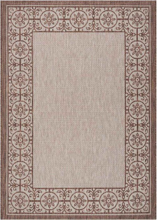 Country Side Ctr03 Natural Rectangle Rug 5'3'' X 7'3''