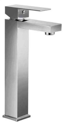 AB1129 Brushed Nickel Tall Square Single Lever Bathroom Faucet