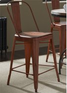 Bow Back Counter Chair - Orange (RTA) Product Image