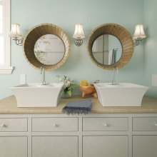 Dahlia Square Above-counter Vitreous China Bathroom Sink
