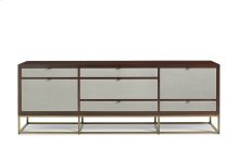 Domicile Credenza with Linen Front