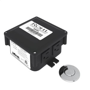 Polished Chrome Air Activated Switch Button With Control Box For Waste Disposal Product Image