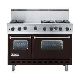 "Chocolate 48"" Open Burner Range - VGIC (48"" wide, six burners 12"" wide griddle/simmer plate)"