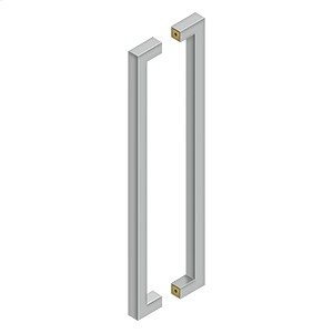 """24"""" Contemporary Pulls, Back-To-Back - Brushed Stainless"""