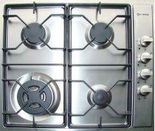 "Stainless Steel 24"" Gas Cooktop - Side Control"