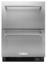 "24"" Stainless Steel Refrigerator/Freezer Drawer Product Image"