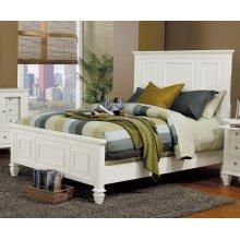 Sandy Beach White California King Bed