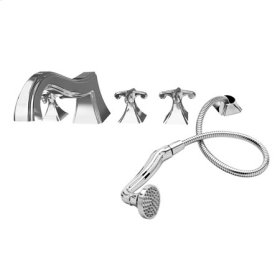 Gun Metal Roman Tub Faucet with Hand Shower