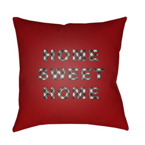 "HOME SWEET HOME PLAID-019 20"" x 20"""