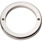 Tableau Round Base 2 1/2 Inch - Polished Nickel
