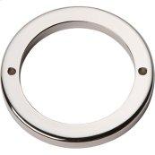 Tableau Round Base 2 1/2 Inch - Polished Nickel