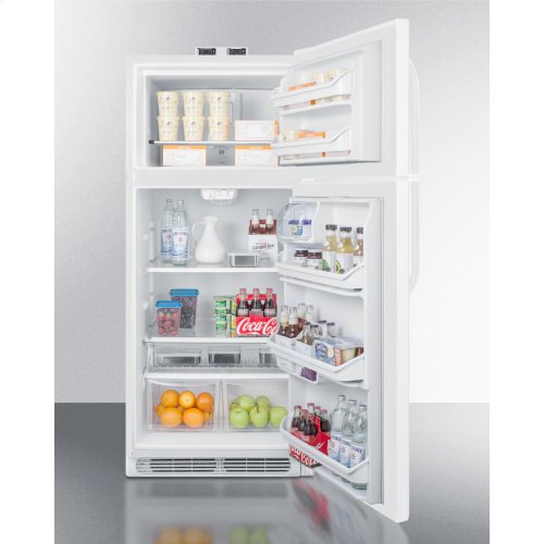 21 CU.FT. Break Room Refrigerator-freezer In White With Nist Calibrated Alarm/thermometers