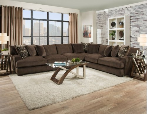 1600 - Ultimate Chocolate 3-Piece Sectional