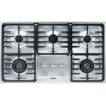 KM 3475 G Gas cooktop with 2 dual wok burners for particularly versatile cooking convenience.