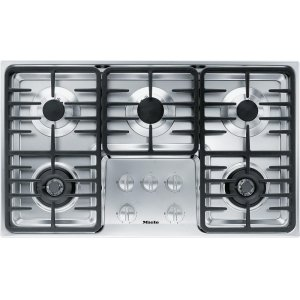 MieleKM 3475 G Gas cooktop with 2 dual wok burners for particularly versatile cooking convenience.