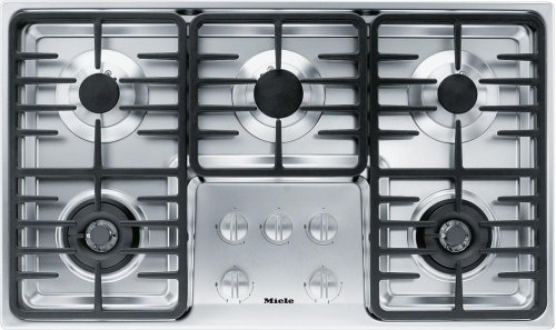 KM 3475 LP Gas cooktop with 2 dual wok burners for particularly versatile cooking convenience.
