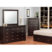 Contempo 8 Drawer Long Dresser