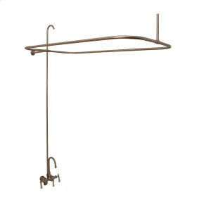 Tub/Shower Converto Unit - Gooseneck Spout & Lever Handles for Acrylic Tub - Polished Brass