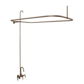 Tub/Shower Converto Unit - Gooseneck Spout & Lever Handles for Acrylic Tub - Brushed Nickel
