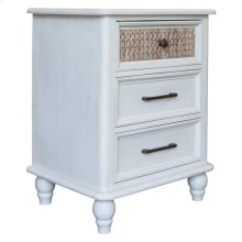 3 Drawer Night Stand, Available in White Sand Finish Only.