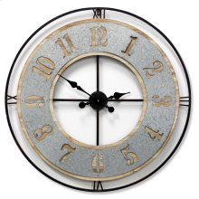 Wooden & Metal Wall Clock  31in X 31in X 2in