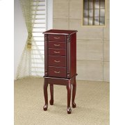 Traditional Merlot Jewelry Armoire Product Image