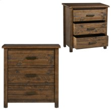 Hawthorne Estate3 Drawer Wood Chest Deep Forest Finish