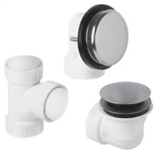 PVC Plumber's Half Kit with Deluxe Soft Toe Touch Trim (Designer Face Plate) - Antique Brass