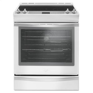 6.4 Cu. Ft. Slide-In Electric Range with True Convection - WHITE ICE