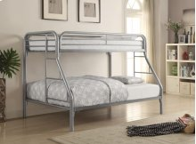 Twin / Full Metal Bunkbed Silver