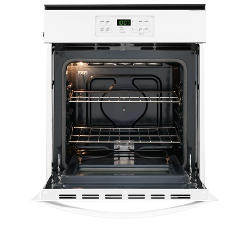 Frigidaire 24 Built In Single Gas Wall Oven White Front