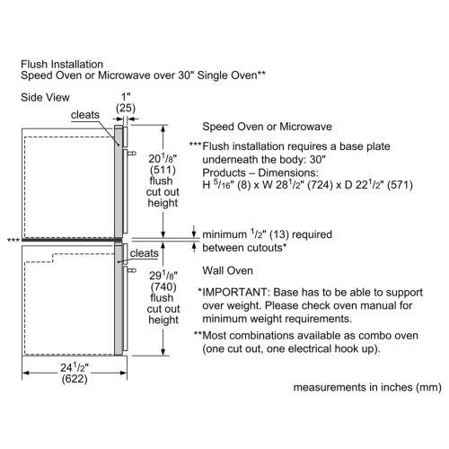 "Bosch Benchmark Ser. 30"" Speed Oven, SS, 240V"