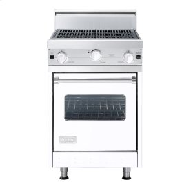 """White 24"""" Char-Grill Companion Range - VGIC (24"""" wide range with char-grill, single oven)"""