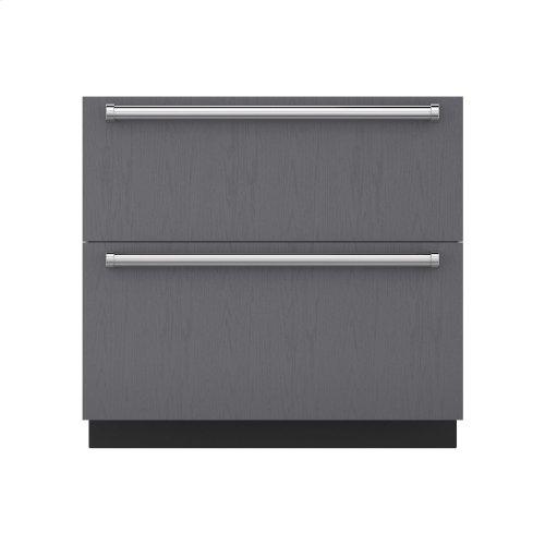 "36"" Refrigerator and Freezer Drawers - Panel Ready"