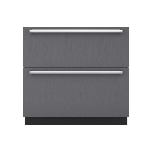 """36"""" Refrigerator/Freezer Drawers with Ice Maker - Panel Ready"""