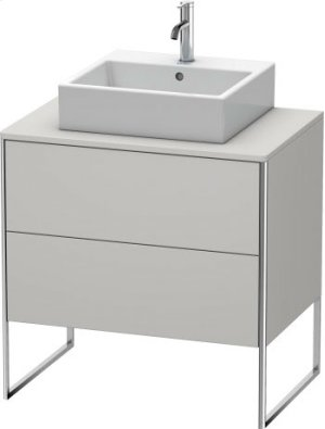 Vanity Unit For Console Floorstanding, Nordic White Satin Matt Lacquer