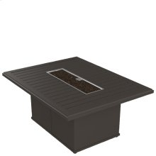 "Banchetto 54"" x 42"" Rectangular Fire Pit, Built-In Ignitor"