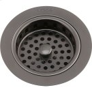"""Elkay 3-1/2"""" Drain Fitting Antique Steel Finish Body and Basket with Rubber Stopper Product Image"""