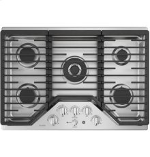 "30"" Built-In Gas Deep Recessed Edge-to-Edge Black Cooktop"